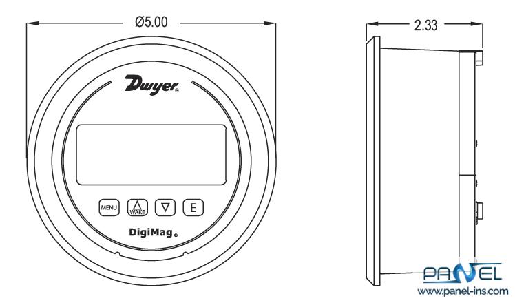 فروشگاه اینترنتی پنل گیج اختلاف فشار دیجیتال دوایر سری DM-1000