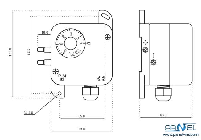فروشگاه اینترنتی پنل سوئیچ اختلاف فشار مکانیکی PS