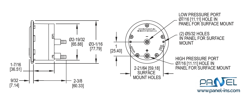 فروشگاه اینترنتی پنل گیج های اختلاف فشار مگنهلیک (MAGNEHELIC 2-5000)