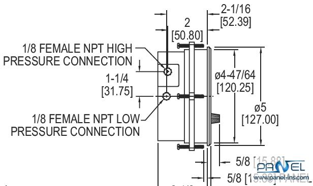 فروشگاه اینترنتی پنل سوییچ اختلاف فشار عقربهایی سری 3000MR-3000MRS