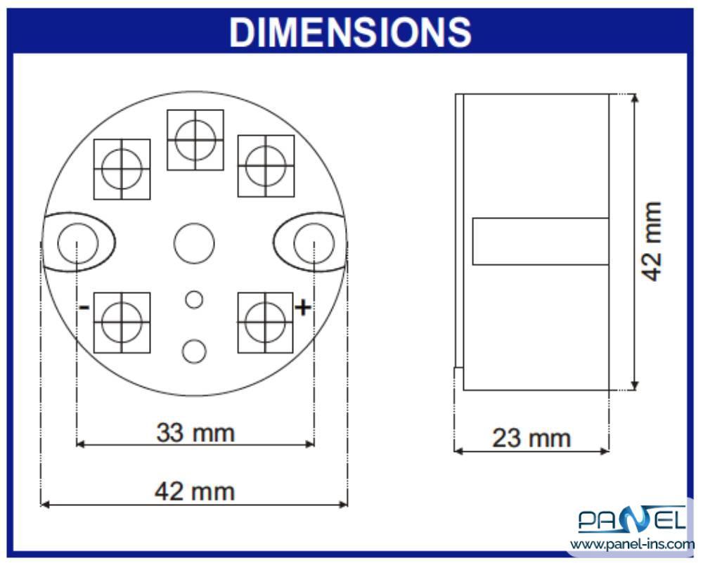 فروشگاه اینترنتی پنل ترانسمیتر دما ایندومارت سری SEM203P